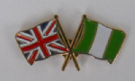 Great Britain and Nigeria Friendship Flag Pin Badge